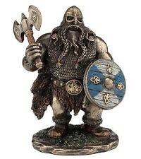 "5.75"" Viking Warrior w/ Double Bladed Ax Norse Decor Statue Sculpture Decor"