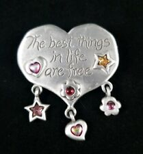 Pin Brooch Designer Signed Jj Best Things In Life Are Free
