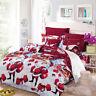 3D Printed Cartoon Xmas Bedding Set Bedclothes Cover Bed Sheet Pillowcases B7Y8