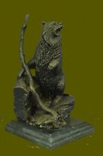 Kodiak Grizzly Bear Lodge Wildlife Lodge Artwork Bronze Statue Sculpture Decor