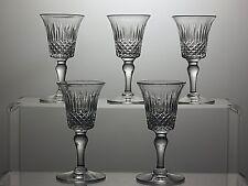 "VINTAGE STUART CRYSTAL ""STU14"" CUT GLASS LIQUEUR GLASSES SET OF 5 - SIGNED"
