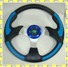 350mm Auto Car F1 Sport Speed Racing Steering Wheel blue DL600