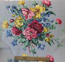 BTY Vintage Beautiful Floral Barkcloth Fabric c. 1940