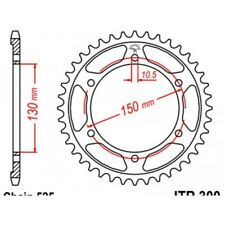 Couronne acier 47 dents xl600v transalp 1987-88 1991-99 Jt sprockets JTR300.47