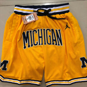 Michigan Wolverines Basketball Shorts Men's Pants NWT Stitched