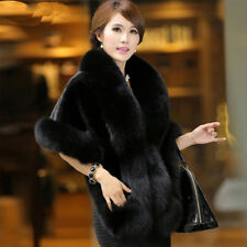 Elegant Women Faux Fur Winter Coat Warm Shawl Stole Wrap Shrug Scarf Cocktail