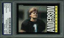 Steelers Gary Anderson Authentic Signed Card 1985 Topps #353 PSA/DNA Slabbed