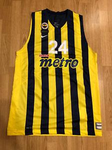 Nike Fenerbahce Basketball Jersey Jan Vesely #24 Euroleague FIBA Authentic XXL