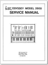 ARP ODYSSEY 2800 Service Manual Repair Schematic Diagrams Schaltplan Schema