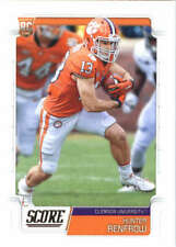 Two card lot 2019 Score Football Hunter Renfrow Rookie Card Oakland Raiders