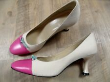 CHARLES JOURDAN stylishe Pumps Materialmix beige pink Gr. 6,5 / 37 NEU  ZC917