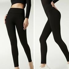 Calzedonia Total Shaper High Waisted Leggings Size Medium Black barely worn