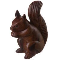 Handcarved Wooden Squirrel Ornament Figurine Vintage Rustic