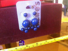 Claire's Claires Accessories Official Earrings Navy Blue Bauble £5.50 RRP
