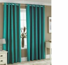 FULLY LINED THERMAL BLACKOUT CURTAINS Eyelet Ring Top with FREE Tie Backs
