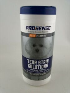 ProSense Dog Eye 50 Wipes Vitamin E Plus Tear Stain Solutions for Everyday Use
