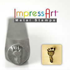 Foot Print - Left Metal Design Stamp By Impressart Metal Jewelry Punch