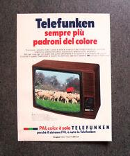 [GCG] I739 - Advertising Pubblicità - 1979 - TELEFUNKEN PALCOLOR , GRUPPO AEG