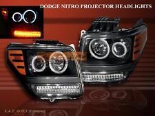 07 08 09 10 11 NITRO BLACK CCFL HALO RIMS PROJECTOR HEADLIGHTS WITH LED SIGNAL