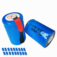18x 1600mAh Ni-CD 4/5SC SubC Sub C 1.2V Rechargeable Battery with Tab univerisal