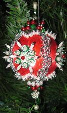 Beaded Satin Christmas Ornament KIT - Carousel