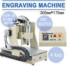 800W VFD 4 Axes 3020T Fraiseuse Graveur Machine CNC Router Engraving CUTTING