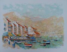 HUCHET Urbain : Saint Tropez - LITHOGRAPHIE originale signée #450ex