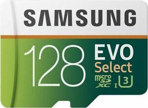 Samsung EVO Select 128gb microSDXC UHS-I u3 100mb/s Full HD & 4k UHD Speicherkarte