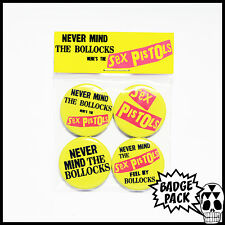 Sex Pistols - Never Mind The Bollocks Button Badge Pack - 4 x 25mm Button Badges
