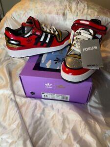 Adidas Men's Originals Forum 84 Low Simpsons Duff H05801 Red/Black/White SZ 7-10