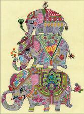 Cross Stitch Kit ~ Design Works Elephant Trio #DW3259