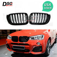 Grill for BMW X3 F25 X4 F26 ABS Front Grille Glossy Black Dual Slat Grills