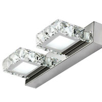 Dual-head 6W LED Wall Mount Light K9 Crystal Mirror Front Lamp 2835 SMD Washroom