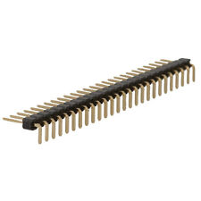"""Header Right Angle Male 1 Row 26Pin .1"""" Ctr .025"""" Pst .27"""" Gold Tail 10 pcs"""