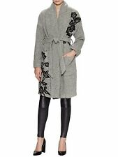 Anthropologie Embroidered Shawl Collar Robe Coat By plenty by tracy reese  SZ:M