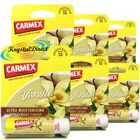 6x Carmex Classic Vanilla Click Stick Ultra Moisturising Dry & Chapped Lip Balm