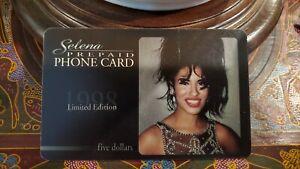 RARE 1998 Selena Quintanilla 1 pre paid calling card collectors edition Tejano