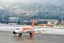 Easy Jet Plane Innsbruck Airport Tirol Austria Mountain Photograph Picture