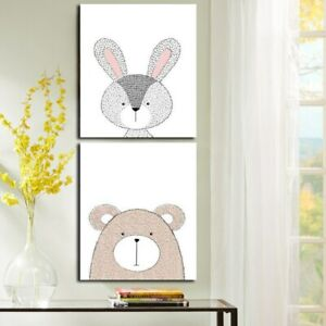 Children Room Lovely Animals Poster Painting Modern Wall Art Pictures Painting