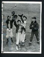 Little League Baseball Bronxwood 1957 Press Photo Italian orphan Kim Frezzolini