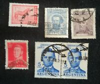 lot N°82 - 5 timbres ARGENTINE