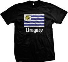 Uruguay Flag Text Uruguayan Pride Orgullo Bandera Uruguaya Mens T-shirt