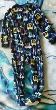 ♡Joe Boxer Toddler BOYS zipper closure one piece fleece pajama bears & cars 4T♡
