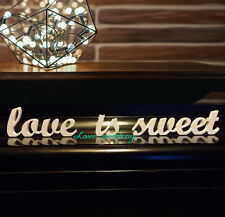 """Wedding decoration """"LOVE IS SWEET"""" letters mr & mrs sign for sweetheart table we"""