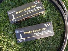 2 X MERRICK THORN / PUNCTURE RESISTANT TYRES & INNER TUBES 700 x 25 c (25-622)