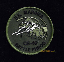 CH-46 SEA KNIGHT BATTLE PHROG HMM US MARINES HAT PATCH HELO PIN UP MCAS FMF USS