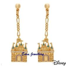 RARE Disney Couture Kidada Jones Cinderella MAGIC CASTLE 14K Gold Plated Earring