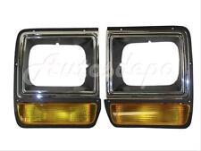 FOR 86-90 DODGE D150 PICKUP / RAMCHARGER HEADLIGHT DOOR CHROME SET=LH & RH