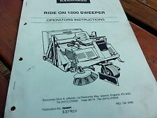 Ransomes ride on 1500 sweeper  operators manual.
