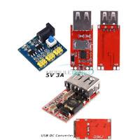 USB Charger 6-24V to 5V 3A DC-DC 5.5X2.1MM Buck Step Down Power Supply Converter